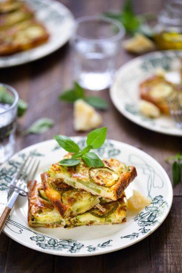 Scarpaccia courgettes (galette italienne) recette facile