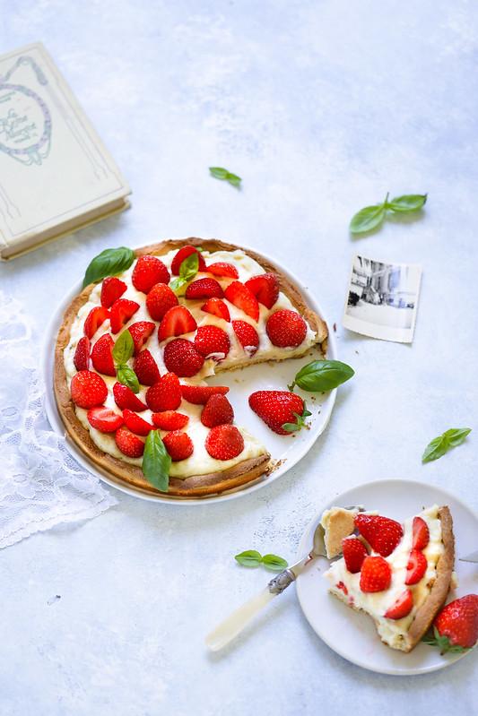 tarte fraises crème pâtissière recette