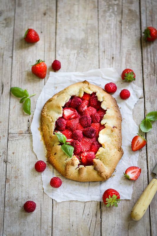 tarte rustique fraises framboises recette sans gluten