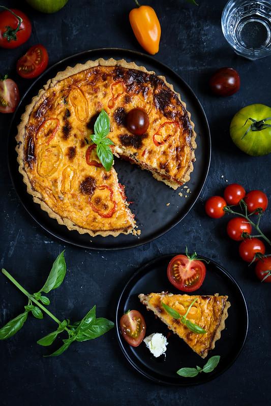 Quiche à la tomate - Recette végétarienne - Un déjeuner de soleil