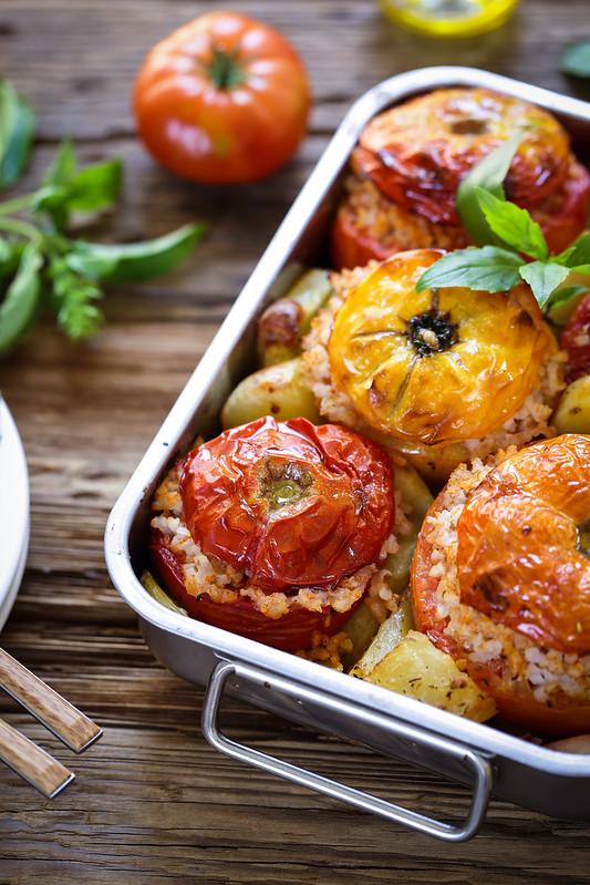 Tomates farcies au riz - Recette italienne - Un déjeuner de soleil