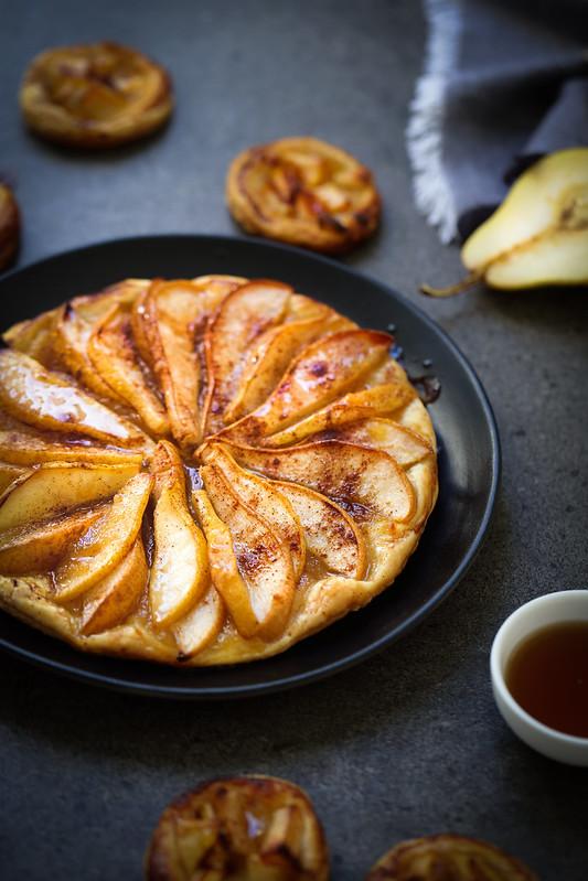 Tarte fine aux poires - Recette facile - Un déjeuner de soleil
