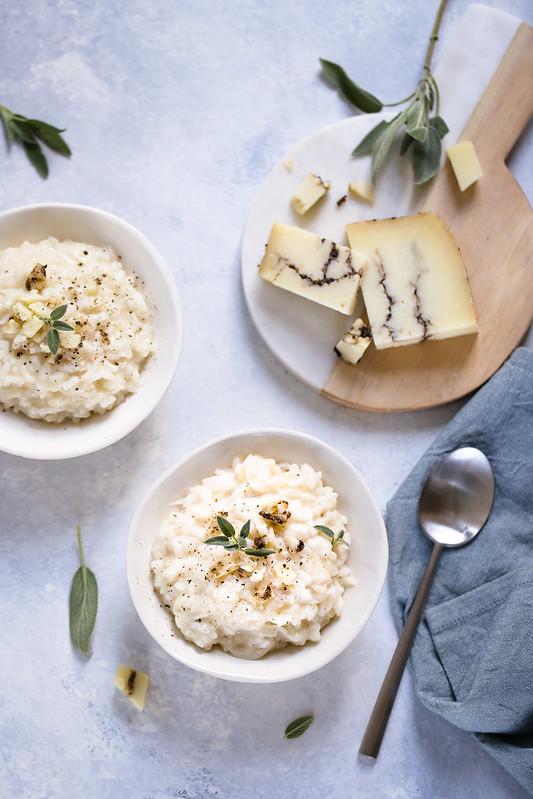 Risotto au fromage de brebis à la truffe recette italienne