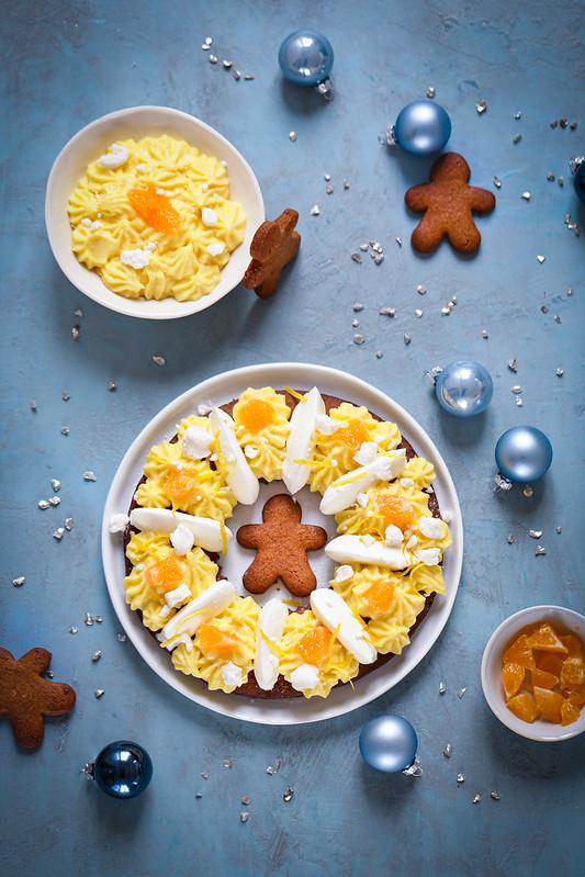 Couronne de Noël facile au citron façon tarte
