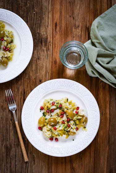 Poireaux olives