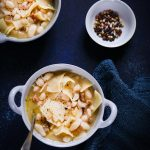 Soupe haricots pâtes (pasta e fagioli)