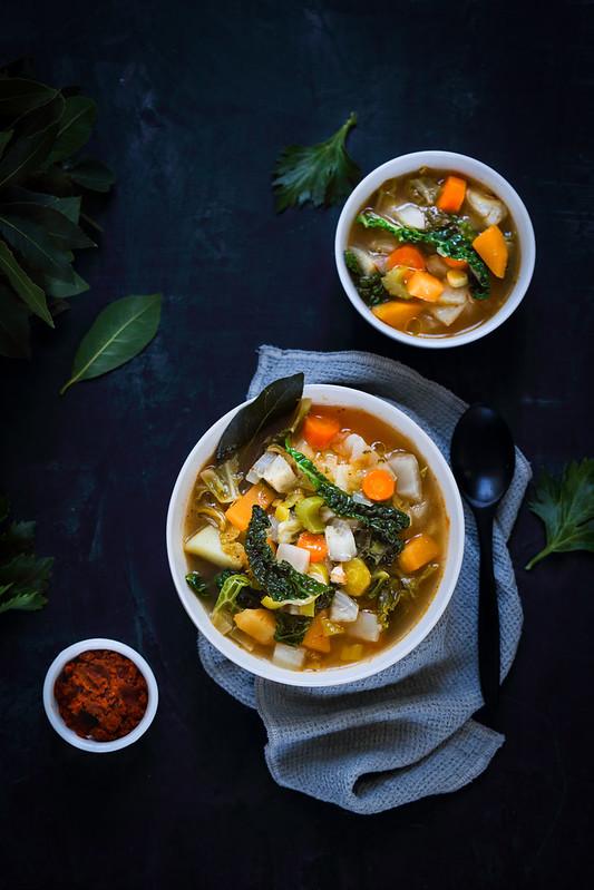 Potage de légumes d'hiver au curry - Recette légère - Un