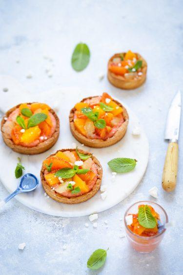 Tarte creme orange et aux agrumes