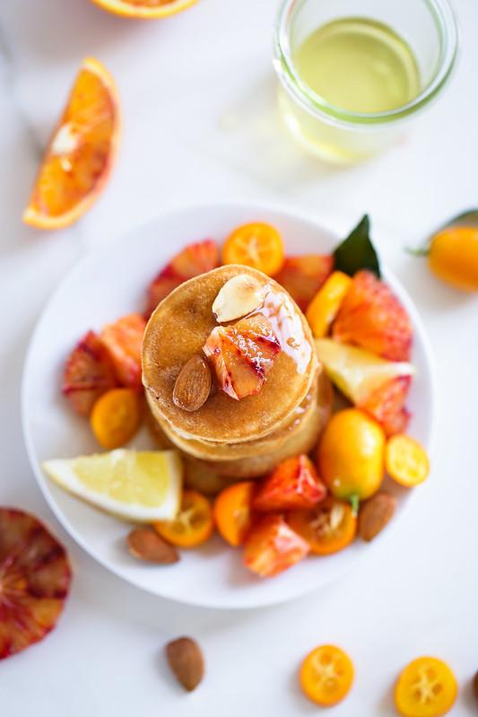 Pancakes moelleux amandes sans laitages