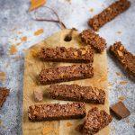 Barres croustillantes chocolat noisettes recette rapide