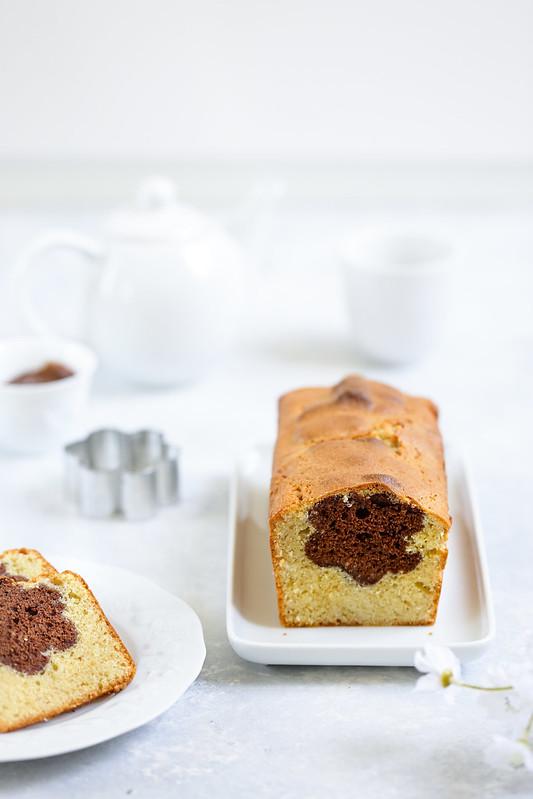 Cake surprise coeur Nutella ou pate a tartiner