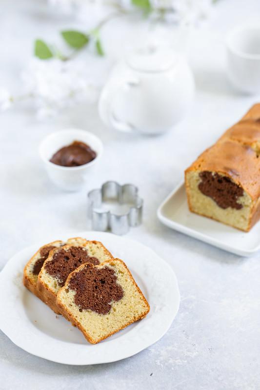 Cake coeur chocolat ou gateau surprise