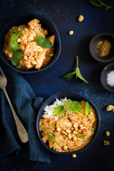 Chou-fleur curry facon butter chicken