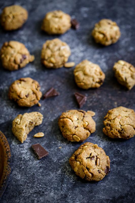 Cookies cacahuetes chocolat