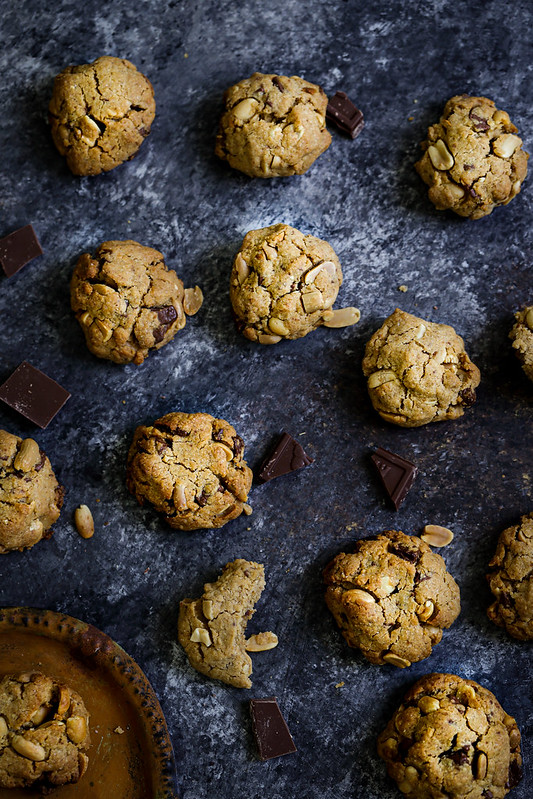 Cookies cacahouetes chocolat recette