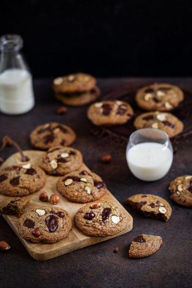 Cookies chocolat noisettes recette facile