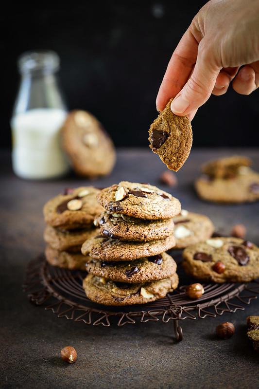 Cookies chocolat noisettes parfaits