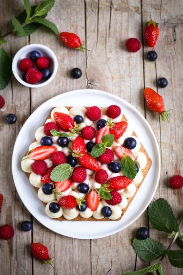 Tarte fruits rouges creme patissiere recette facile