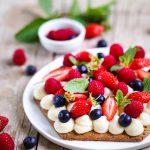 Tarte crème patissiere et fruits rouges recette italienne