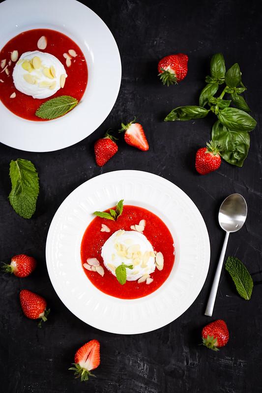 Ile flottante fraiseqs recette micro-ondes light et rapide