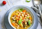 Minestrone italien pois chiches legumes recette legere