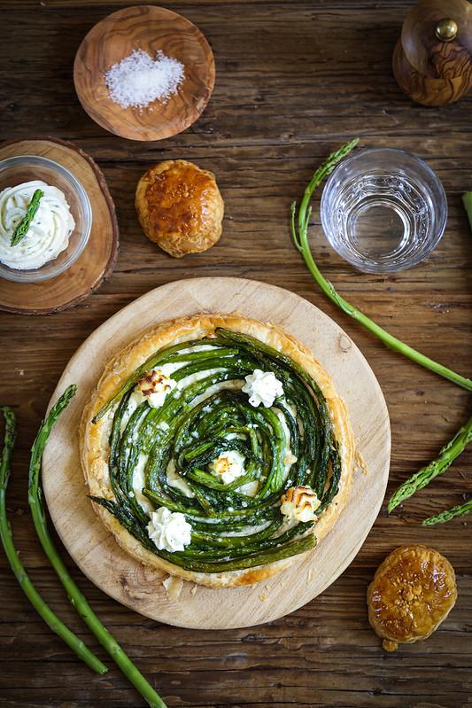 Tarte fine asperges Boursin recette facile