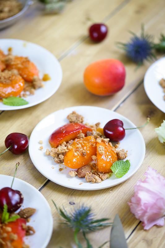 Crumble abricots a la poele facile rapide