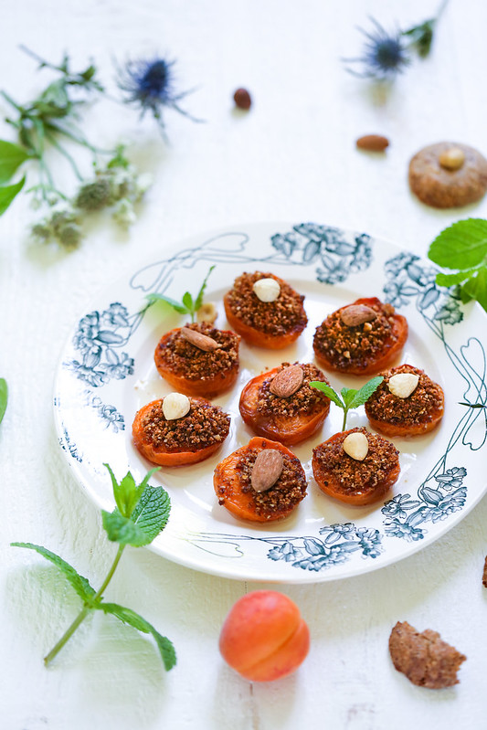Abricots rotis amaretti (sans gluten et vegan)