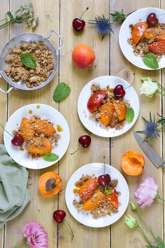 Crumble abricots recette facile