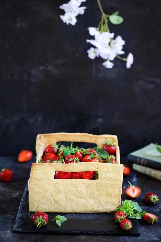 gateau fraises entremets forme cagette video