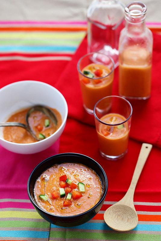 Gaspachos et soupes froides ete quinze recettes