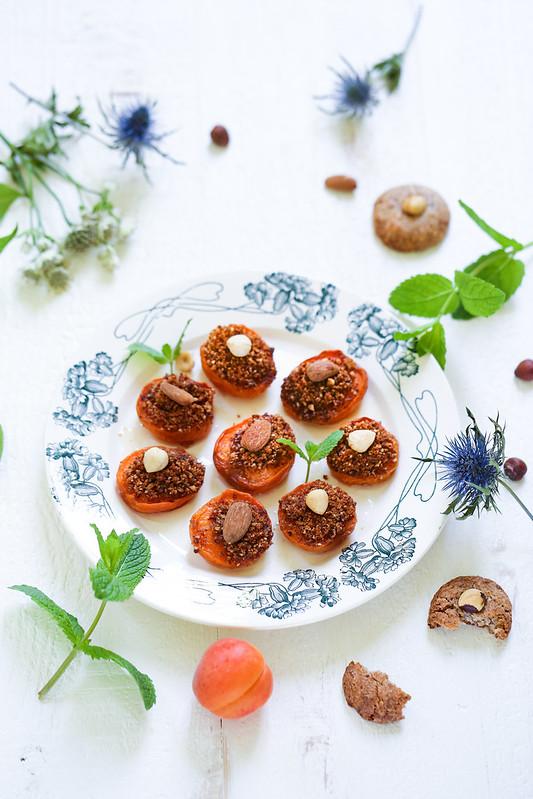 Abricots rotis farcis amaretti noisettes recette sans gluten italienne
