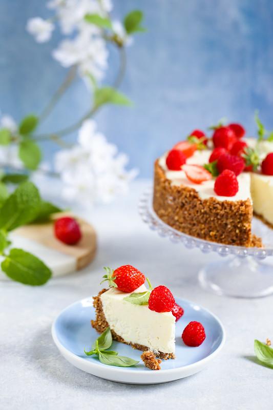 Cheesecake ricotta sans cuisson sans gluten sans gelatine