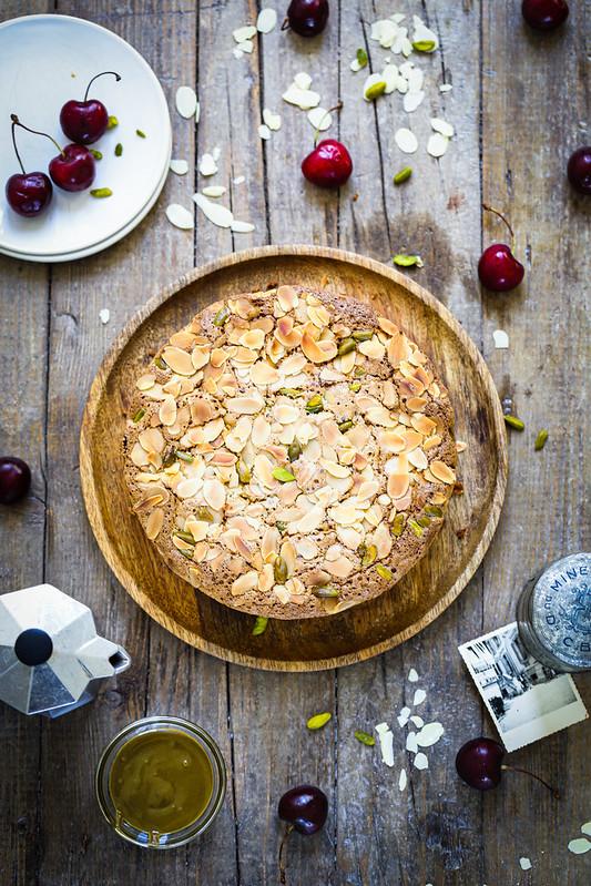 Gateau fondant amandes pistaches facile sans gluten