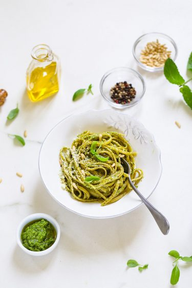 pates pesto basilic recette italienne facile rapide video