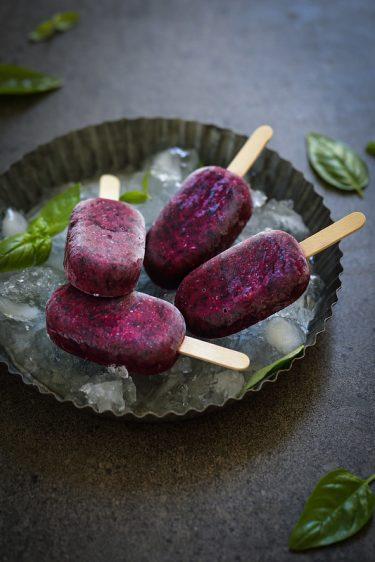 Batonnets glaces ou esquimaux ou paletas myrtilles recette