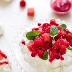 Pavlova pasteque framboise (meringue chantilly)