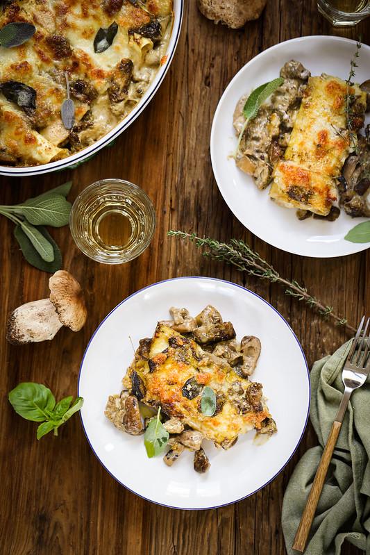cannelloni champignons cepes poulet ricotta recette facile