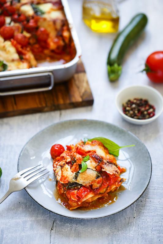 Lasagnes vegetariennes tomates mozzarella recette video