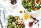 Salade figues chevre vegetarienne