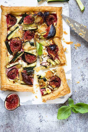 tarte fine figues chevre recette rapide