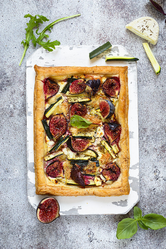Tarte fine chevre figues courgettes recette facile