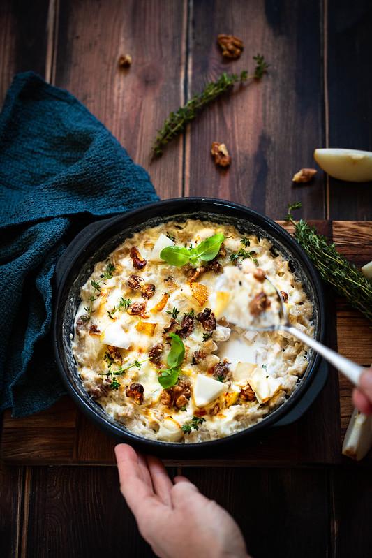 Croziflette gorgonzola noix recette
