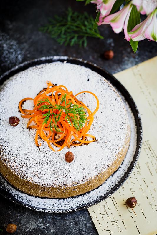 Gateau carottes noisettes recette italienne sans gluten