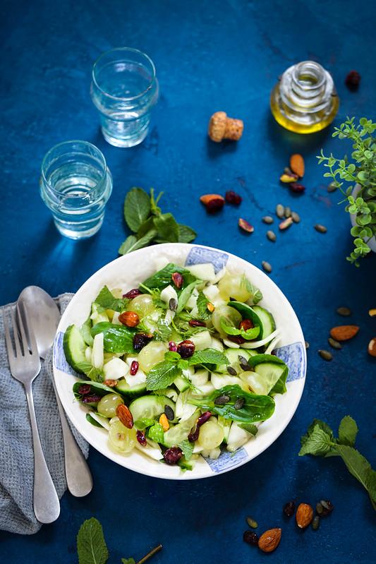 Salade fenouil concombre recette legere