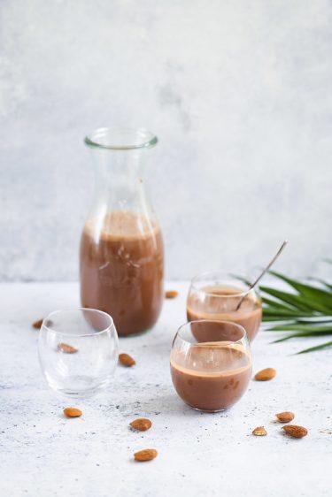 chocolat chaud lait amandes vegan recette