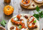 Tartines potiron carotte chevre chips jambon recette aperitif