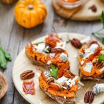 Tartines potiron carotte chevre jambon recette facile