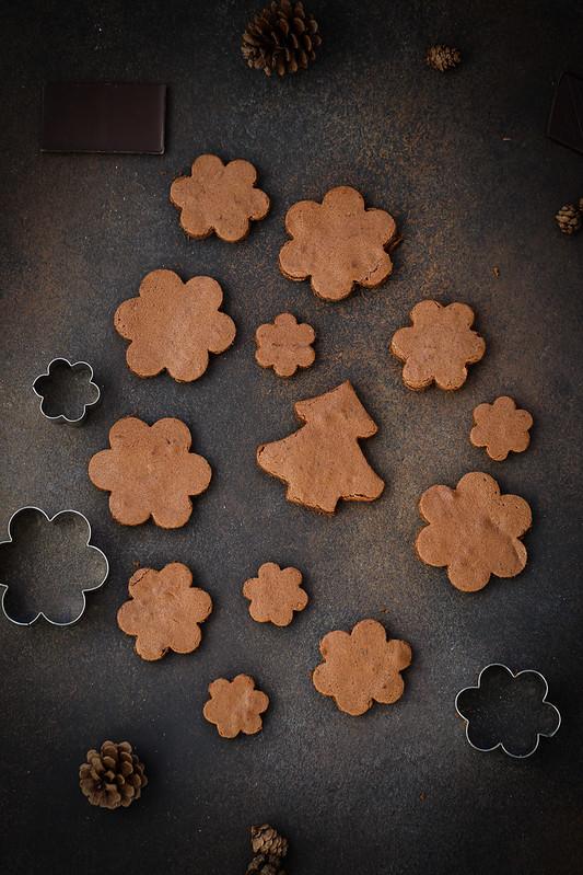 gateau forme sapin brownie caramel