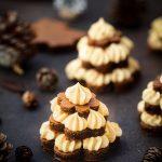 Brownie mousse caramel forme sapins noel recette facile pas a a pas